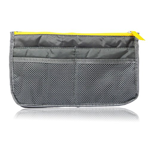 Katara Sanwood Reise Handtasche Organizer Tasche Shopper Ordnung Make Up Kosmetik Tool Stift grau, 1er Pack