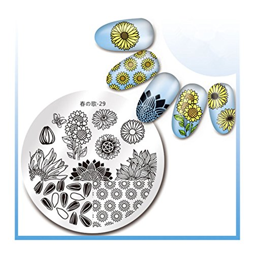 Born-Pretty-Nail-Art-Stamping-Plaque-Image-Timbres-Plaque-Manucure-Nail-Art-Dco-des-Ongles