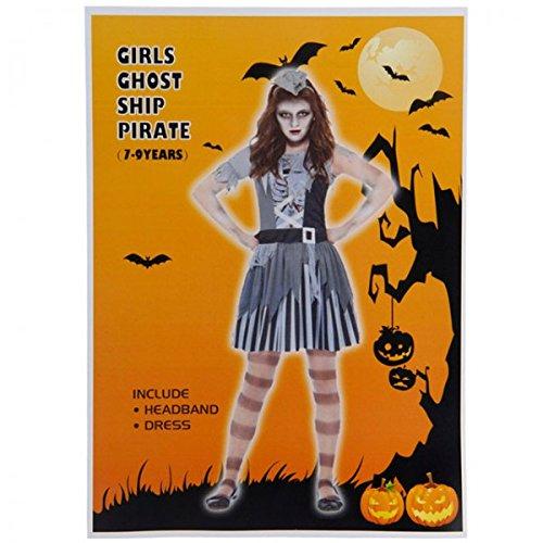 Hexen Kostüm für Mädchen Kinder verkleiden Karneval Halloween Zombie Verkleidung, Größe:4-6 Jahre;Variante:Girls_Ghost_Ship_Pirate (Dead Pirate Halloween Kostüm)
