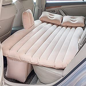 Car Inflatable Mattress Car Bed Mobile Cushion Camping Air Bed with Motor Pump Two Pillows for Travel and Sleep Rest   10