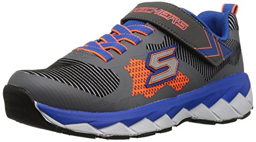 Skechers Zipperz Perplex, Baskets Basses Garçon Blau (BBOR)