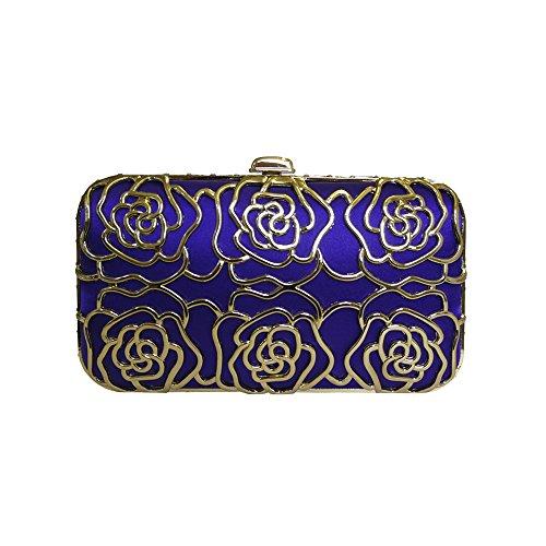 Anna Cecere Italienisch Entwickelt Rosa Juwel Clutch Abendtasche - Blau (Jeweled Handtasche Blue)