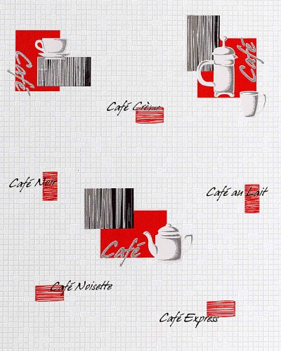 Washable EDEM 062-24 vinyl wallpaper wall coffee mosaic tile decor white creme red 5.33 sqm (57 sq ft)