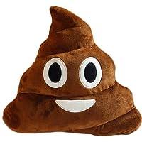 DI Deals India Smiley Emoji Dark Brown Poop Cushion Pillow Stuffed Plush Toy- 35cm, Brown