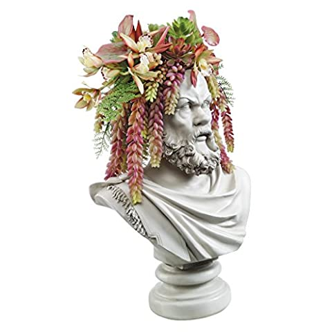Design Toscano Bust Planter of Antiquity Statue: The Philosopher