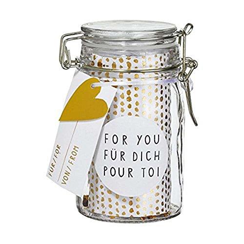Räder HERZSTÜCKE Geschenkglas For You H:12cm, dia:6cm (Rad 12)