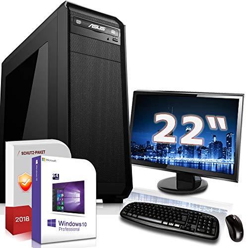 Computer Ati Radeon 7000 (Multimedia PC mit Monitor AMD FX-4100 4x3.8GHz |ASUS Board|22 Zoll TFT|16GB DDR3|1000GB HDD|Radeon HD 3000 DVI|DVD-RW|WLAN-Stick|USB 3.0|SATA3|Sound|Windows 10 Pro|GigabitLan|3 Jahre Garantie|Made in)