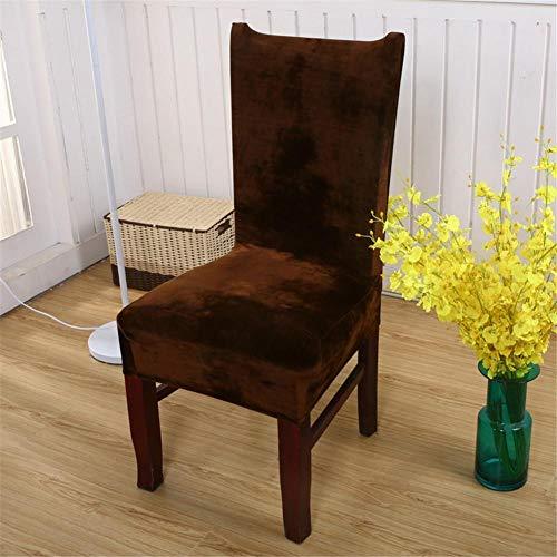 Parsons Stuhl Stoff Stuhl (4er Set Stuhlhussen Stuhlbezug Stretch Samt, Im Winter Warm Halten Abnehmbare Schlafzimmer Deko Für Bankett Von 332PageAnn)