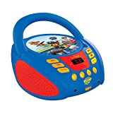 Lexibook Paw Patrol Boombox CD-Player, AUX-Eingangsbuchse, AC-Betrieb oder Batterie, Blau/Schwarz, RCD108PA_10