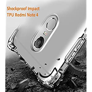 Parallel Universe Shock Absorbing TPU Back Cover Case for Xiaomi Redmi Note 4 (Transparent)