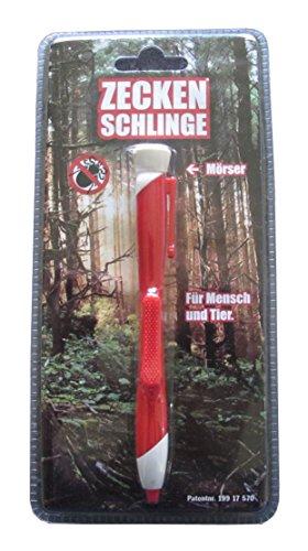 Bonetti Zeckenschlinge in Kugelschreiberform Zecken Schlinge Stift (Rot)