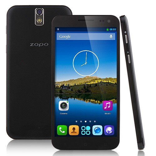 ZOPO ZP998 - Octa core Smartphone 1.7GHz 5,5 pollici Gorilla Glass FHD schermo Android 4.2 2GB RAM 16GB GPS OTG NFC 14MP (nero, bianco)