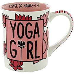 Enesco Our Name Is Mud Yoga Girl a27515 Taza