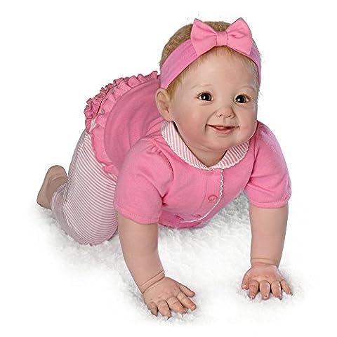 Anna krabbelt! Berührungsaktive Babypuppe von der Künstlerin Ping Lau