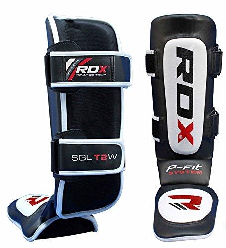 RDX Cuero Boxeo MMA Espinilleras Protección Kick Boxing Muay Thai Espinilla Empeine