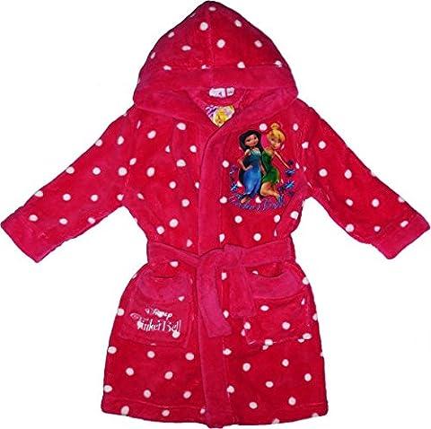 Disney Tinkerbell Bademantel / Morgenmantel (98-104, Pink)