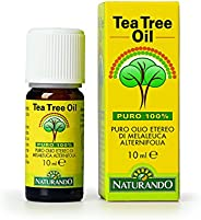Naturando Tea Tree Oil 10 ML Puro Olio Etereo 100% di Melaleuca Alternifolia