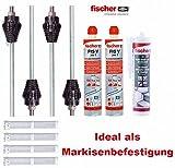 FISCHER Thermax Befestigungsset mit Montagemörtel und Kleb- Dichtmasse M12 16/170