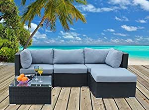 hansson polyrattan lounge sitzgruppe gartenm bel garnitur poly rattan 3 sitzpl tze. Black Bedroom Furniture Sets. Home Design Ideas