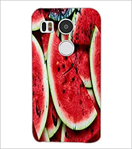 PrintDhaba WaterMelon D-3437 Back Case Cover for LG NEXUS 5X (Multi-Coloured)