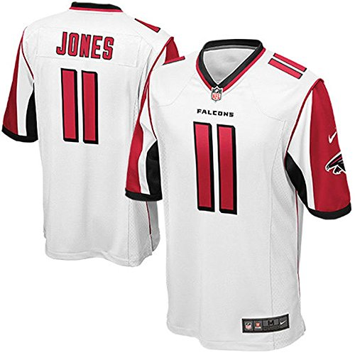 11 Julio Jones Trikot Atlanta Falcons Jersey American Football Shirt Mens White Size L(44) (Jones Weißes Trikot)