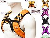 Gewichtsweste 8kg Gewicht Verlust Training Running verstellbar Jacke abnehmbarer Gewicht Crossfit Gewicht Verlust Trainings Body, Orange