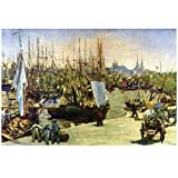 WNGQ Port of Bordeaux Art Poster Print by Édouard Manet,