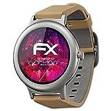 LG Watch Style Glasfolie - atFoliX FX-Hybrid-Glass hartbeschichtete elastische 9H Kunststoffglas Folie - besser als Echtglas Panzerglas