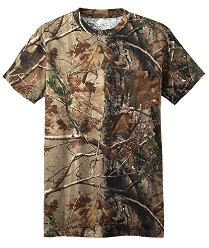 Russell Outdoors Mens Realtree AP Camo Short Sleeve Explorer Shirt w/ Pocket M L XL 2XL 3XL (2XLarge)