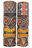2-Tiki-Mscaras-50-cm-en-Hawaii-Style-Juego-de-2-Tiki-Mscara-Mscara-Mscara-Madera-pared-isla-de-Pascua