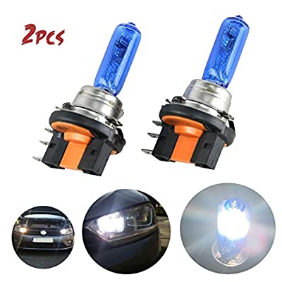 Carrep 2Pcs H15 15/55W Xenon 7500K Super White Halogen Bulbs Daylight Lamp Headlight Light Bulbs 12V