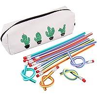 Beetest Flexible Lápiz, 36pcs Colorida Flexible Bendy Lápices Suaves Con Bolsa De Lápiz Para Niños Niños Niñas Estudio Dibujo