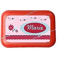 wolga-kreativ Brotdose Lunchbox mit Name Blume und Wunschmotiv mit Trennsteg Viele Motive preisvergleich bei kinderzimmerdekopreise.eu