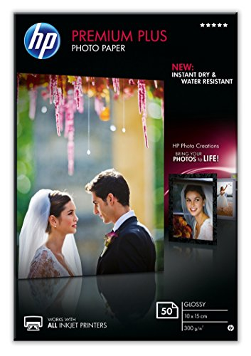 HP CR695A Premium PLUS Photopaper A6 50 10 x 15 cm (A6) Carta fotografica