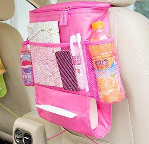 UrCool Autositz organizer Auto Seat Multi-Pocket Aufbewahrungstasche mit Compartments Autositzrückgetränkehalter Kühler Speicher Beutel (Wärmeerhaltung) Rose Baby Auto Safe-seat
