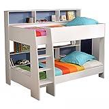 Etagenbett Tam Tam Hochbett Kinderzimmer Doppelstockbett Rückwand blau oder pink