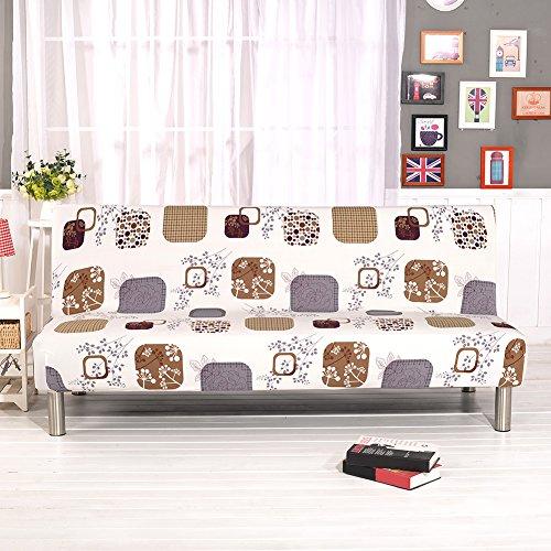 Gedruckt All-inclusive-Stretch-Klappsofa Sofa Cover Protector Schonbezug ohne Armlehnen