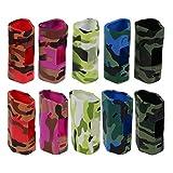 DIY-24H - 2x Schutzhülle für Wismec Reuleaux RX 2/3 Akkuträger Camouflage Silikon Skin Hülle (Blau)