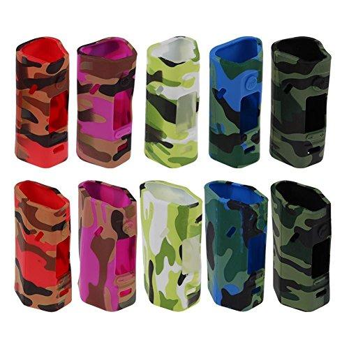 DIY-24H - 2x Schutzhülle für Wismec Reuleaux RX 2/3 Akkuträger Camouflage Silikon Skin Hülle (Weiß)