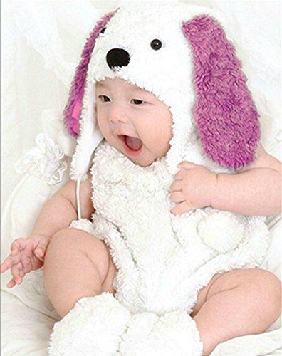 Cute Baby Newborn Infant handgefertigt Crochet Beanie Hat Puppy Stil Baby Kleidung fotografiert Zubehör, Cartoon Fashion Kinder Fotografie Requisiten Foto Requisiten Kostüm Kleidung tragen (geeignet für Babys 0–15Monate zu (Kostüme Puppy Kinder)
