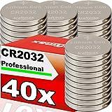 kraftmax 40er Pack CR2032 Lithium Hochleistungs- Batterie für professionelle Anwendungen - Neuste Generation