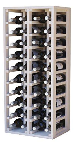 Expovinalia Porte pin avec capacité de 40 Bouteilles Teintes en Blanc, 44 x 32 x 105 cm