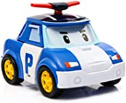 Anglebless Robot Transforming Vehicle Simulation Toy Car for Boys Police Car Series Transforming from Police Car to a Cute R