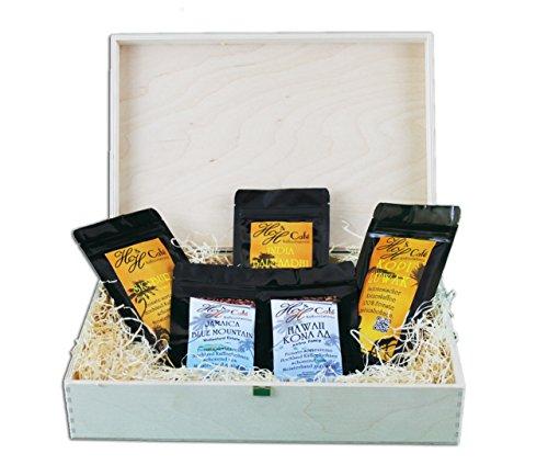 Geschenk Set Kaffee-Raritäten Professionell Katzenkaffee von freilebenden Tieren, Jamaika, Hawaii Kona zum verschenken frisch geröstet, ganze Bohnen! (100g/15,98€)