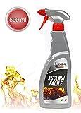 Vetrineinrete® Spray accendi fuoco fiamma 600 ml accensione di legna e carbonella per camini stufe barbecue grill A7