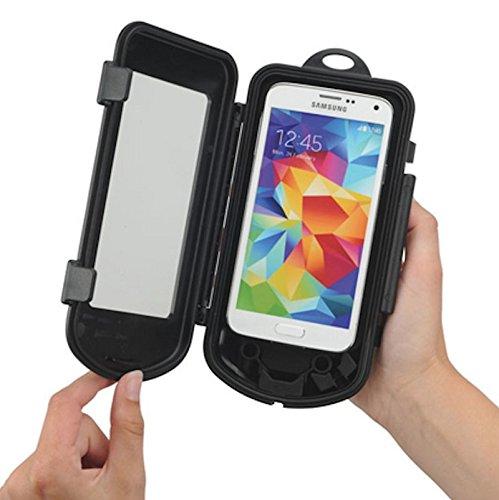KRS -BHC - Universal Biker Splashbox Spritzschutzbox - Größe S - ist geeignet für Geräte bis 128 x 66 x 12 mm für Iphone 3 3S 4 4S 5 5S 5C Samsung galaxy S3mini S4mini (Samsung 4s Mini Box Otter Galaxy)