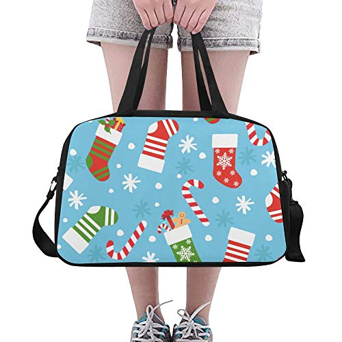 bend Rote Socken Benutzerdefinierte Große Yoga Gym Totes Fitness Handtaschen Reise Seesäcke mit Schultergurt Schuhbeutel für die Übung Sport Gepäck für Mädchen Mens Womens Outdoor ()