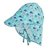 LACOFIA Cappello da Spiaggia Protezione Solare 50 + UPF per Neonato Berretto Estivo Regolabile per Bambini Polpo 6-18 Mesi