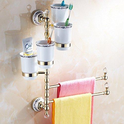 Creative Light-porte-serviettes porte-serviettes Continental / All-cuivre / porte-brosse à dents / or antique rotation savon papillon / simple et double de trois X