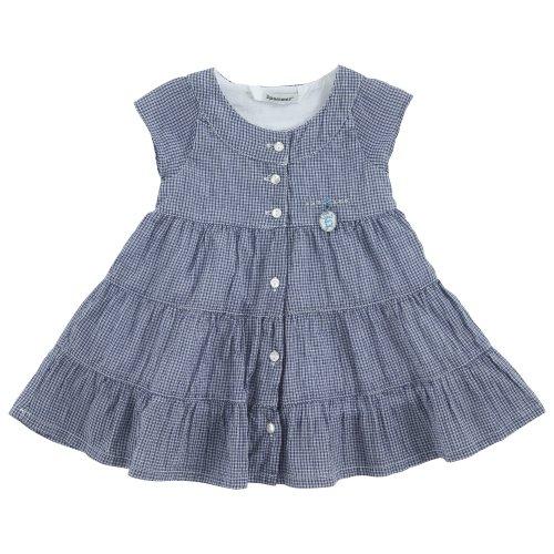 3 Pommes - Robe manches courtes bleue 'Navy girl' - 18 mois